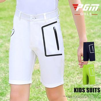 PGM dzieci oddychające Golf szorty chłopcy kieszeń na co dzień wygodne szorty Golf odzież odzież sportowa krótkie spodnie D0796 tanie i dobre opinie Poliester Stałe Pasuje prawda na wymiar weź swój normalny rozmiar