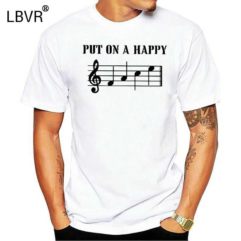 Erkek Unisex koymak mutlu yüz müzisyenler T-Shirt trombon trompet gitar piyano yeni T shirt komik üstleri Tee yeni Unisex komik
