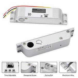 Image 4 - DC12V Fail Safe Nc Elektrische Drop Bolt Lock Toegangscontrole Elektronische Mortise Deursloten Met Vertraging Voor Gate Entry systeem