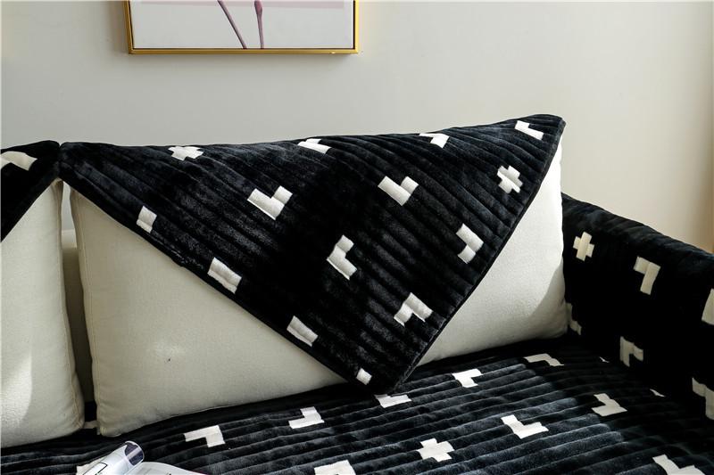 Зимняя Нескользящая плюшевая диванная подушка Всесезонная универсальная