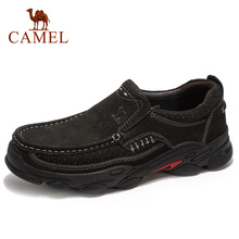 Men Shoes CAMEL Genuine-Leather Casual Footwear Rubber Non-Slip Autumn Outdoor Outsole