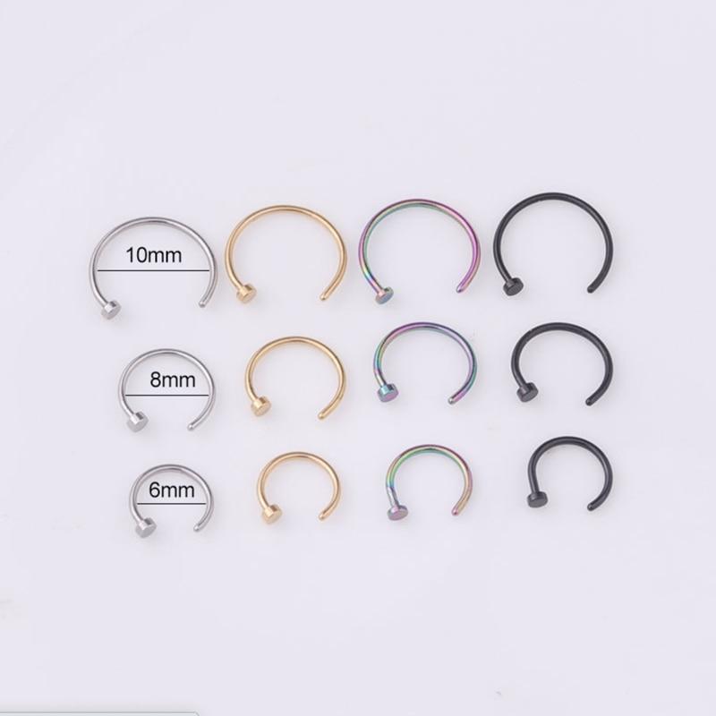 2020 искусственное кольцо для пирсинга женское Открытое кольцо для пирсинга