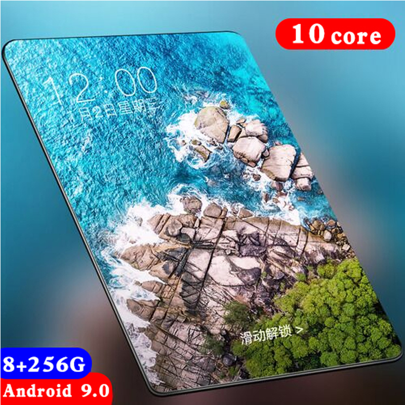 Tablets With 10.1 Inch Andoid Tablets With 8+256GB Large Memory Tablet MTK6797 Dual SIM Card Phone Call Wifi Phone Tablets Pc