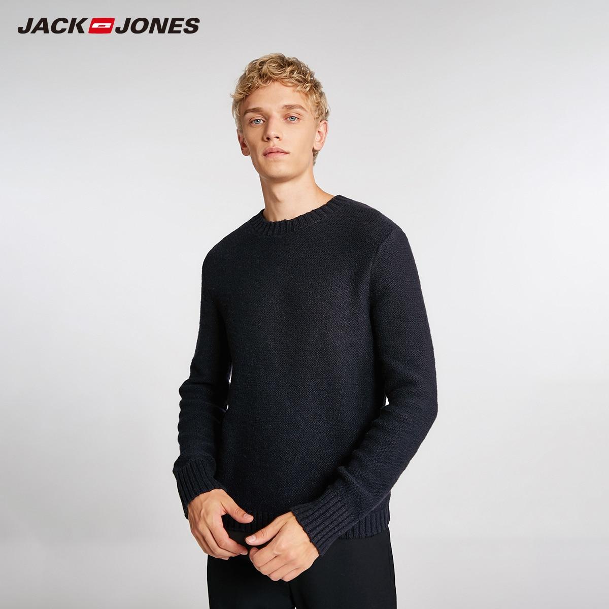 JackJones Men's Basic Solid Colour Wool Fabric Sweater 218425528