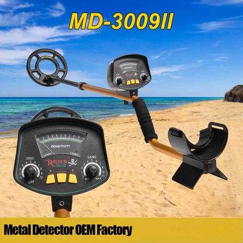 MD-3009II Metal Detector Underground gold diamond detector searching machine long range metal detector finder digger kit scanner