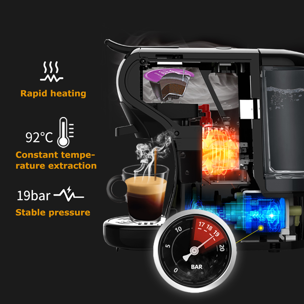 HiBREW Coffee Machine 19 Bar 3in1&4in1 Multiple  Capsule Espresso  Cafetera , Pod  Coffee Maker Dolce Milk&Nexpresso &Powder  H1 3
