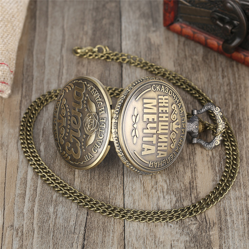 Купить с кэшбэком YISUYA Russian Coins Rouble Quartz Pocket Watch Svetlana Pendant Watch USSR USSR Ruble Replica Collection relogio de bolso