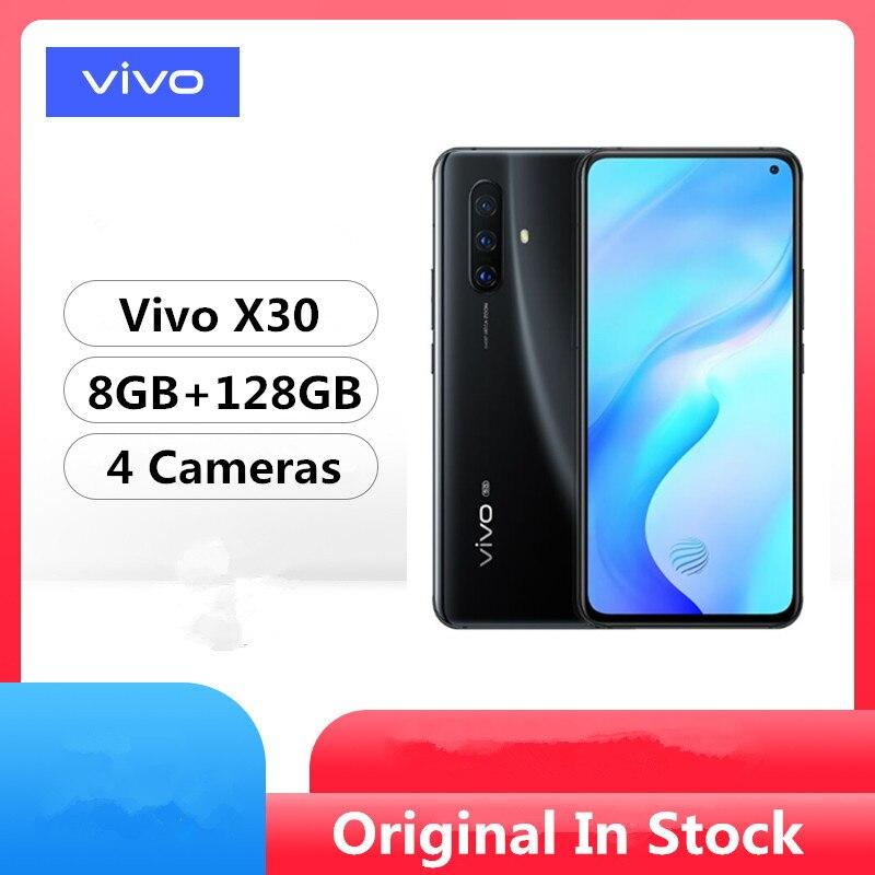 "Оригинальный Vivo X30 5G мобильный телефон Exynos 980 Android 9,0 6,44 ""2400x1080 8 Гб ram 128 ГБ rom 64.0MP 20x Zoom Face ID отпечаток пальца on AliExpress"