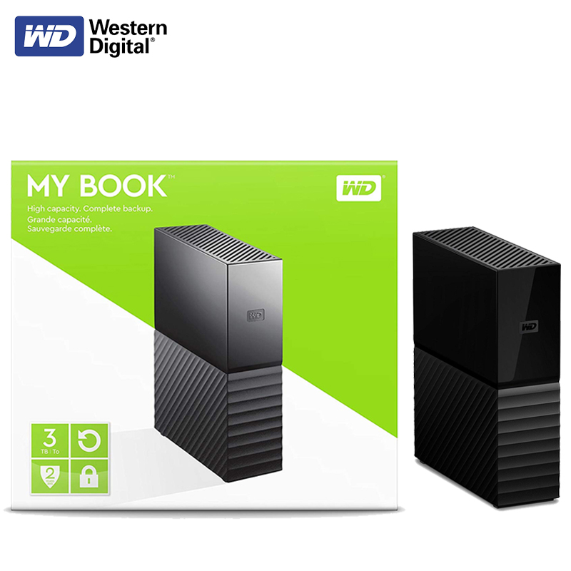 Western Digital WD 4TB 6TB 8TB 10TB 12TB My Book Desktop External Hard Drive Original- USB 3.0/256-bit AES Hardware Encryption