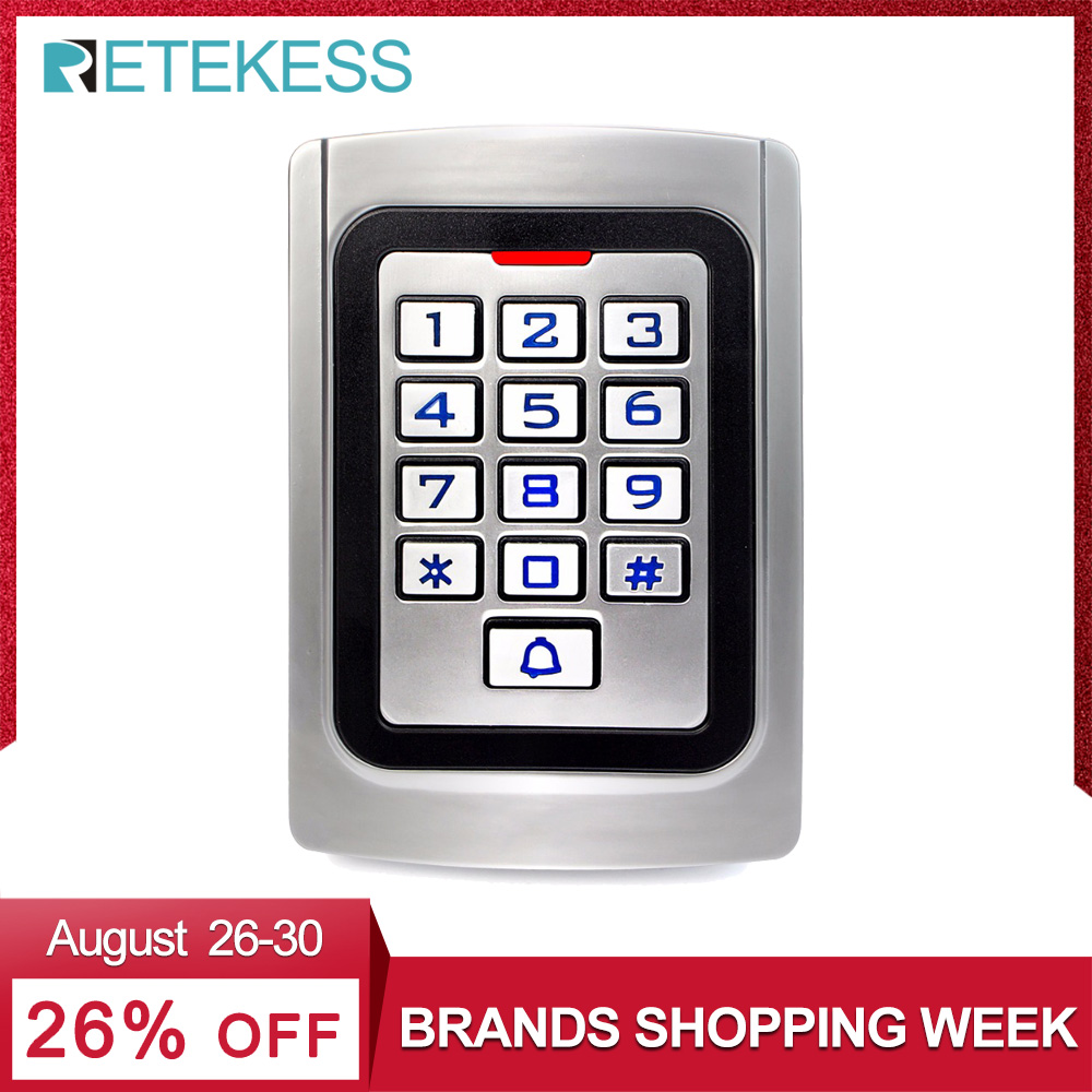 Keypad Access Control IP68 Waterproof Metal Case Silicon Security Entry Door Reader RFID 125Khz EM Card Standalone