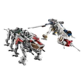DHL 1788Pcs Star Was The Republic Dropship with AT-OT Walker Set Building Blocks Bricks Toys Compatible  10195  05053 2