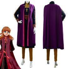 Olaf's Adventure Princess anna elsa косплей костюм платье Анны нарядный Хэллоуин Косплей Костюм