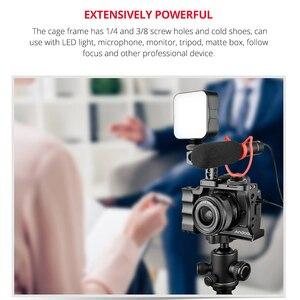 Image 2 - Камера Andoer Cage + комплект с верхней ручкой из алюминиевого сплава с креплением для холодного башмака, совместимым с DSLR камерой Canon EOS M50