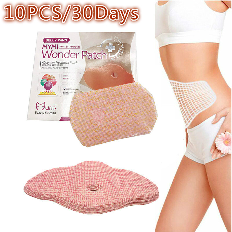 10Pcs Slimming Patch Slim Naval Weight Loss Patches Burning Fat MYMI Wonder Patch Belly Abdomen Women Slimming Massager Products