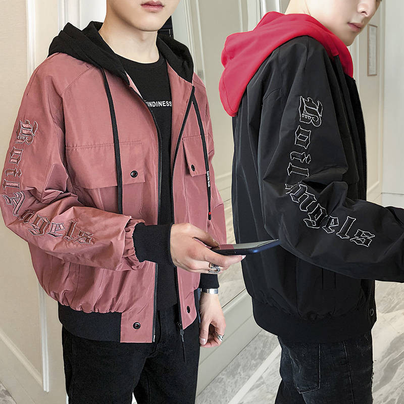 Japanese Hip Hop Styl Jacket Autumn Harajuku Pilot Street Kodak Embroidery Jacket Men Women Coat Clothing Outerwear Funny Hoodie