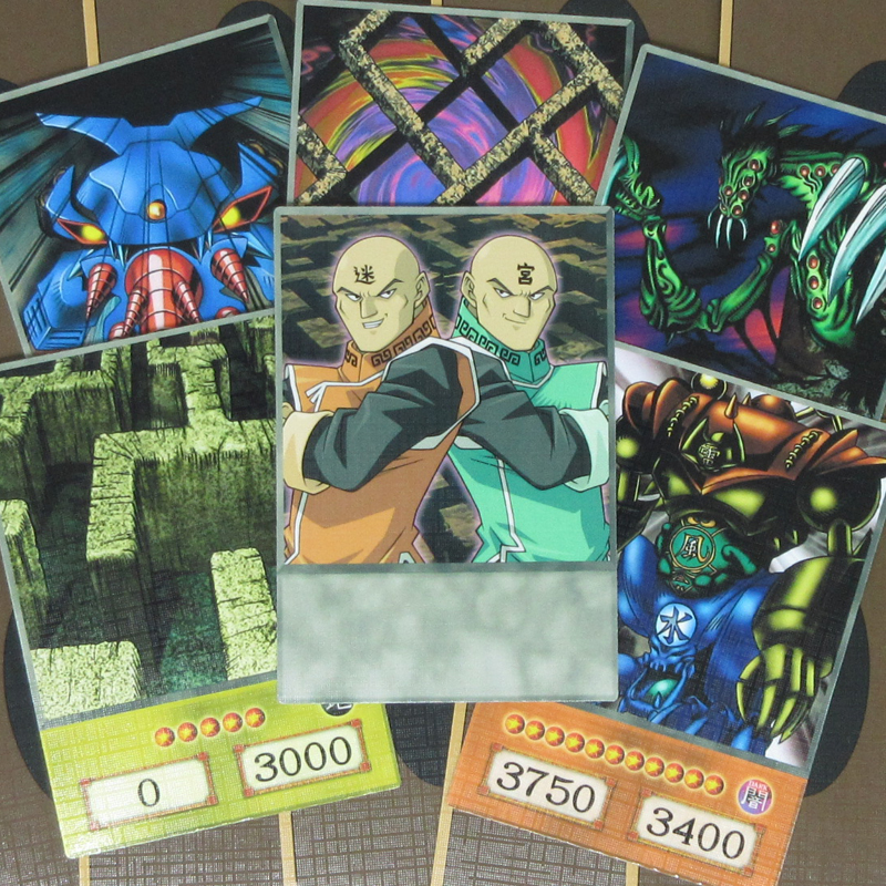 16pcs/set Yugioh Paradox Brothers Cards Anime Style Para Deck Labyrinth Wall Gate Guardian Character Token Yu-Gi-Oh! DM Orica