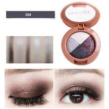 4 Color Nude Shining eyeshadow Pearlescent Makeup Glitter Pigment Eye Shadow Pallete Waterproof Cosmetics eye shadow