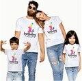 1 шт. или надписью «It's My честь первого дня рождения ребенка Семейные Комплекты Одежда для мамы, папы и детей; Для мамы и дочки футболки для сын...