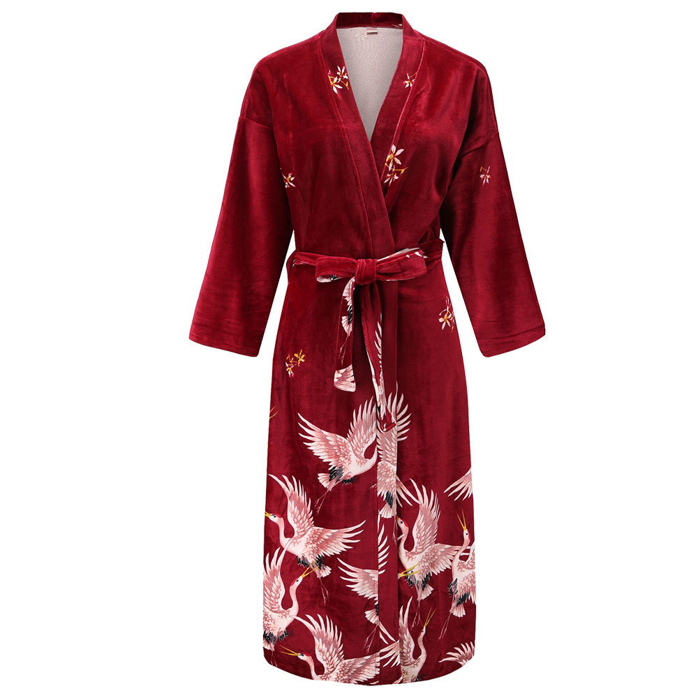 Chinese Women New Velour Bride Bridesmaid Kimono Bathrobe Dress Sexy Mini Sleep Nightshirt Sleepwear Wedding Dressing Gown Robes