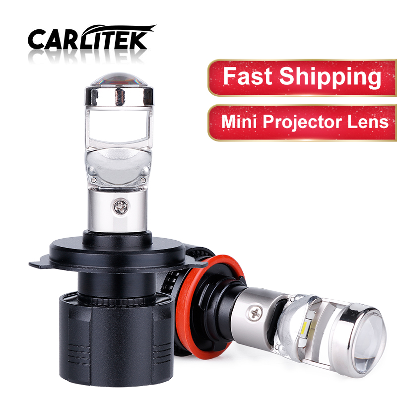 Carlitek Mini Projector Lens Led H4 H7 Car Headlight Kit H11 H8 Hb3 9005 Hb4 9006 Motocycle Fog Lights Beam 6000k 12v 12000lm Car Headlight Bulbs Led Aliexpress