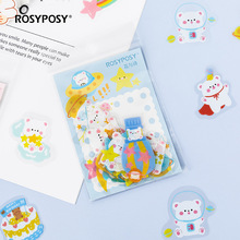 PET Diary Travel Journal Stickers Scrapbooking Stationery School Office Art Supplies
