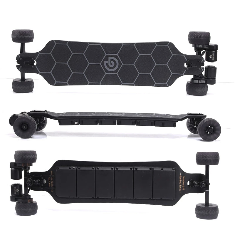 "Ownboard Electric Skateboard AT 3000W 39"" All Terrain  Dual Belt Motor 14AH Battery Fiberglass Bamboo Double-drop Deck"