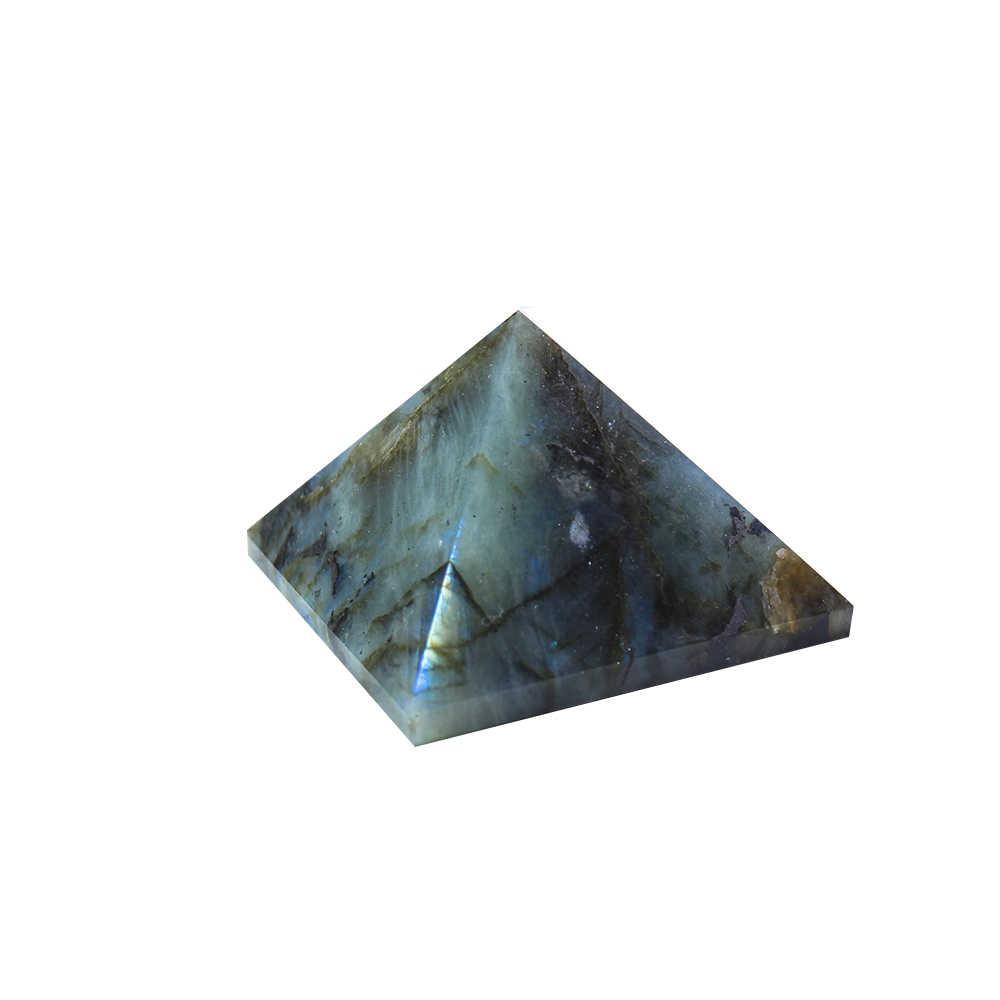 Runyangshi 1 pièce 3-6cm labrador feldspath cristal pyramide salon allongé pierre cristal naturel pierre fengshui ornements