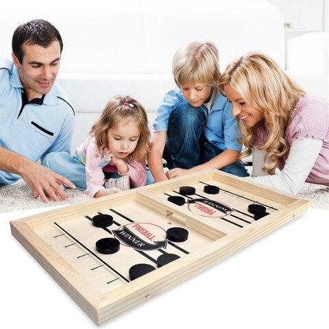 mesa de trabalho batalha 2 em 1 jogo hoquei no gelo slingpuck montessori brinquedos placa