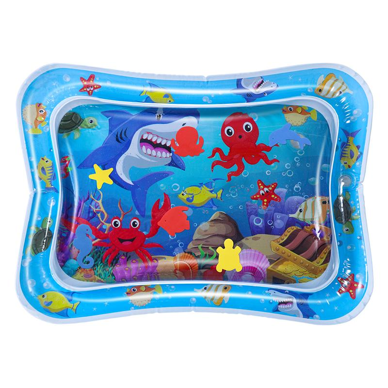 Toyvian Baby Water Mat Cushion Cooling Mat Touching Training Tool Crawling Water Pad For Toddler Children