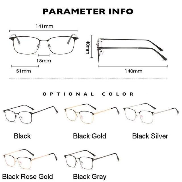 Фото мужские очки в деловом стиле с полной оправой металлическая цена