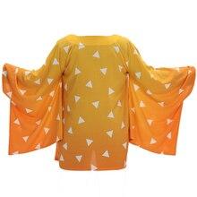 Tueur de démons: Kimetsu no Yaiba mens Kamado Tanjirou cosplay cape costumes Agatsuma Zenitsu orange cape Tomioka Giyuu cape