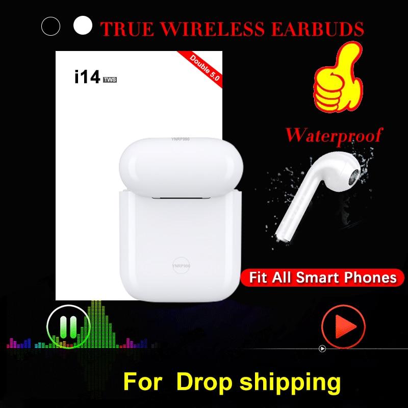 New I14 TWS In-ear Wireless Bluetooth 5.0 Earphone Earbuds Touch Control Headsets Sport Headphones Audifonos Para Celular Elari