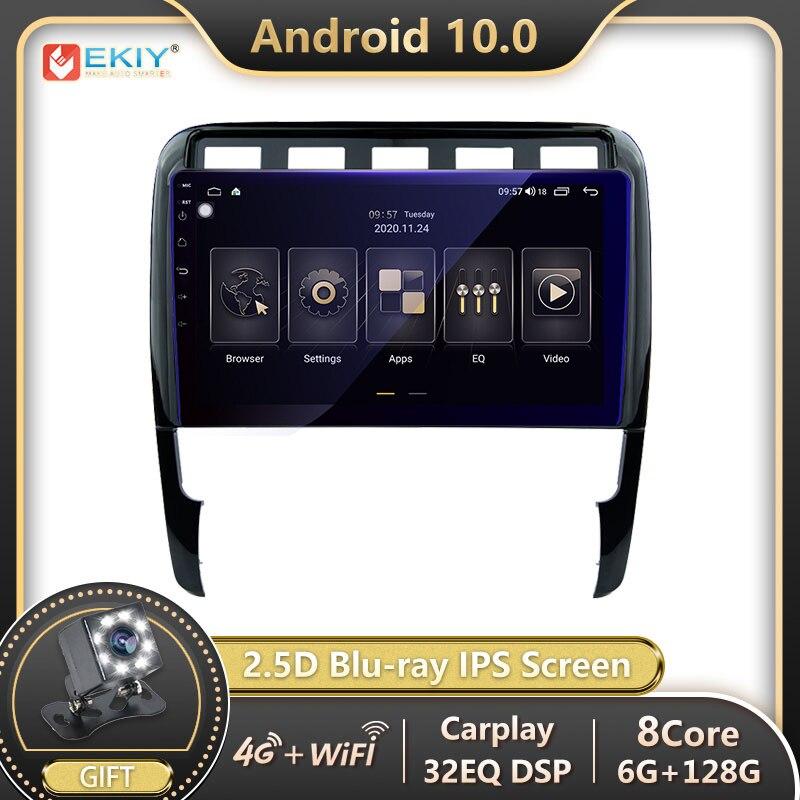 EKIY DSP 6G 128G Android Авторадио для Porsche Cayenne 2002-2010 автомобильный Радио мультимедийный плеер GPS Навигация стерео Bluetooth DVD