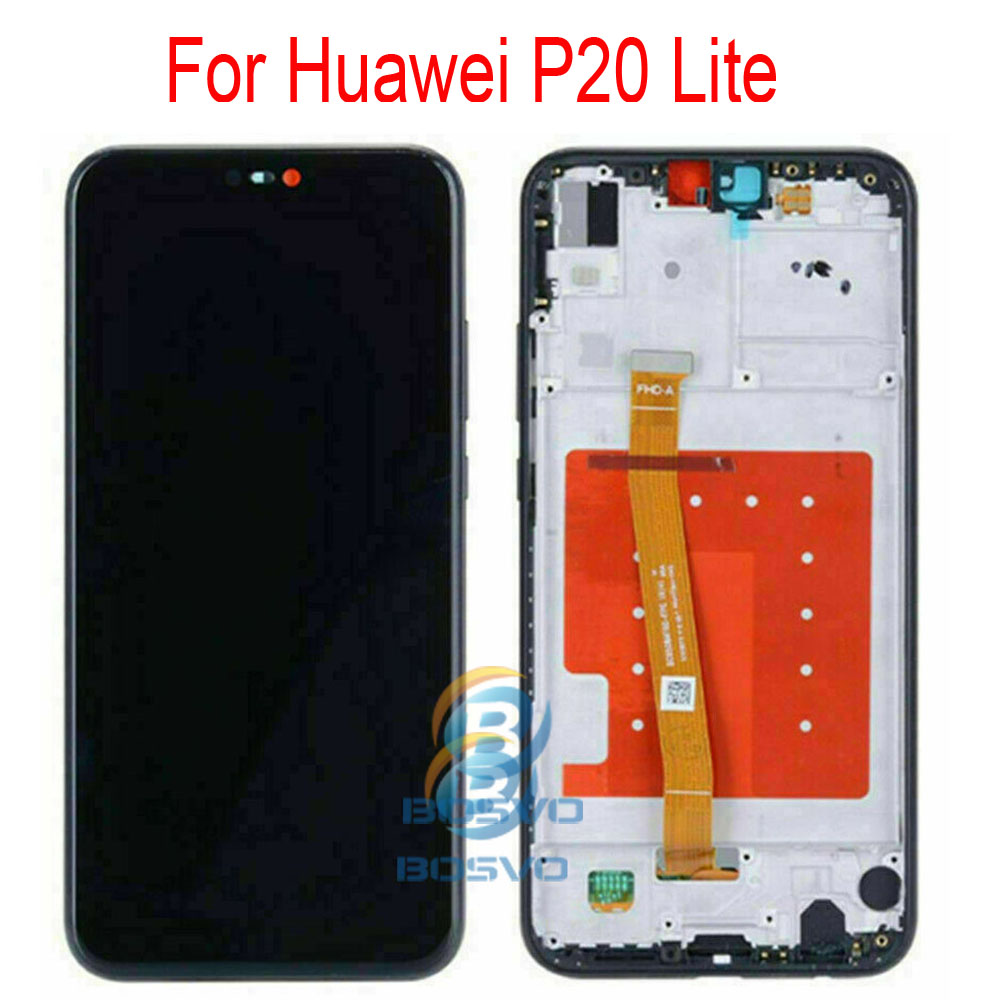 Image 3 - for Huawei P20 lite LCD screen display Nova 3e with touch with frame assembly Replacement repair partsMobile Phone LCD Screens   -