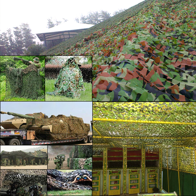 Hunting Camouflage Net Outdoor Blind Tree Stand Waterproof Rot-Resistance Mould-Resistance Suitable War Game Sports Camping 3
