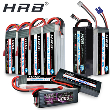 HRB batería Lipo 2S para coche, 7,4 V, 3S, 11,1 V, 5000mah, 4S, 14,8 V, 6S, 22,2 V, 1800mah, 2200mah, 2600mah, 3300mah, 4200mah, 6000mah, 1/10, Hubsan H501
