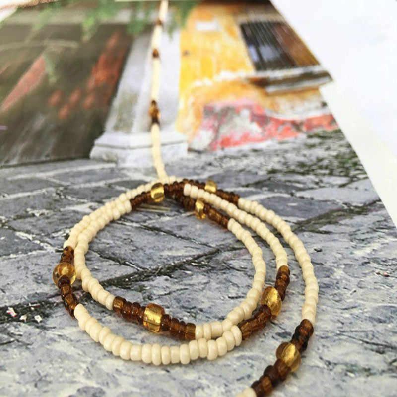 ใหม่แฟชั่นลูกปัดอะคริลิค belly chain สุภาพสตรีแอฟริกันเอวโซ่ body เอว 2019 โบฮีเมียชายหาดบิกินี่ chain body jewelry