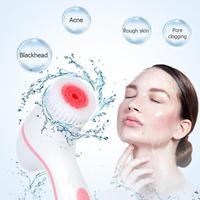 Electric Facial Cleansing Brush Pore Blackhead Cleansing Brush Silica Gel Cleaner Skin Care Tool USB Charging Seat