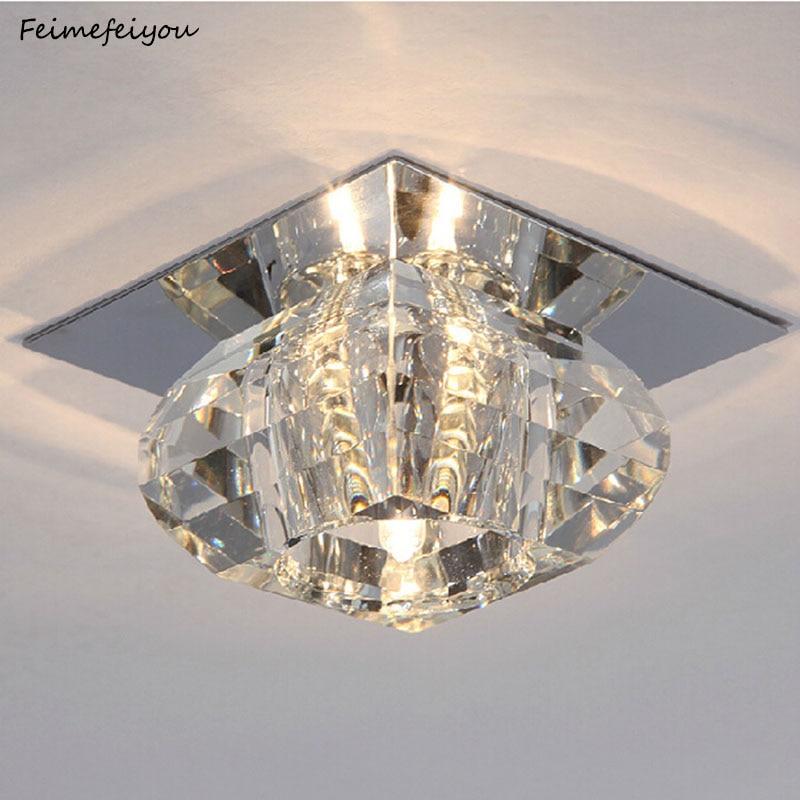 Kristall Unterputz Decken Licht Moderne Kristall Decken Leuchten für Flur Esszimmer Schlafzimmer Küche