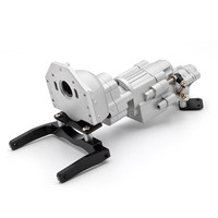 V8 Engine Double Speed Gearbox Wave Box With Cooler Heatsink Radiator for KYX 1/10 SCX10 II 90046 fit 36mm motor