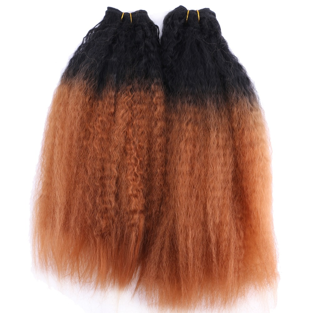 cabelo Ombre Ouro 16-20 polegada Disponível 70