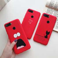 Para Xiaomi Mi 8 Lite fundas Xiomi Mi 8 Lite funda de silicona de dibujos animados de teléfono suave Ultra delgado mate funda para Xiaomi Mi 8 mi8 Lite