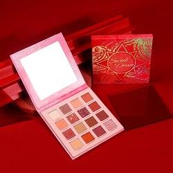 Paleta de sombra de ojos profesional, maquillaje, brillo de Flash, cosméticos, brillo de diamante metálico, 16 colores Nude cremoso pigmentado, TSLM2