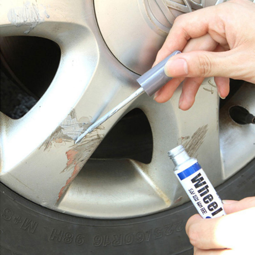 Aluminum Alloy Wheel Hub Renovation Paint Brush Wheel Hub Spray Paint Silver Automobile Wheel Hub Scratch Repair Pen