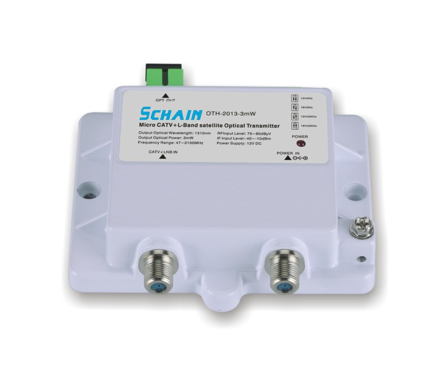 FTTH CATV+STA-IF Micro Optical Transmitter OTH-2013-3mW 47-2150MHz 1310 1550nm Single Mode 12V DC Micro Optical Transmitter