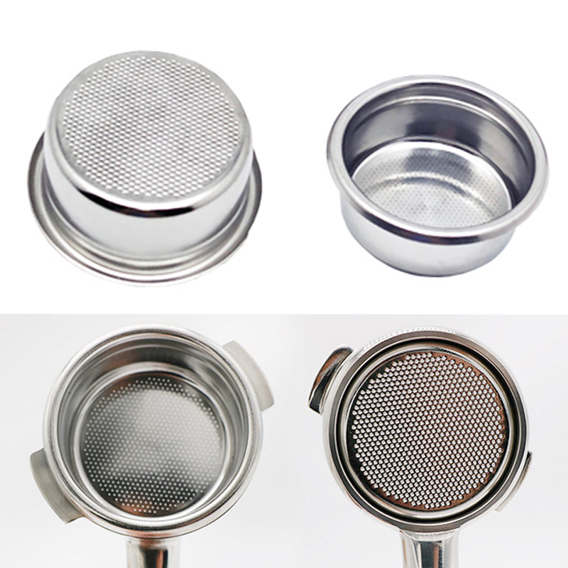 2 Cup Triple Portafilter Filter Stainless Steel Non Pressurized Coffee Filter Basket For Kitchen Coffee Maker Accessories Parts