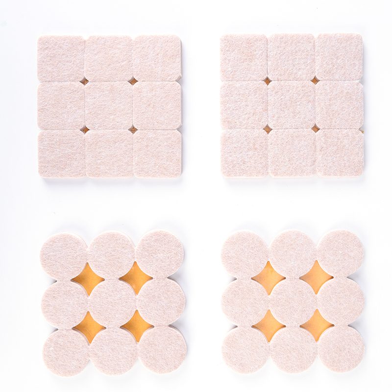 18pc Felt Table And Chair Foot Pad Self-adhesive Table Leg Pad Furniture Floor Protection Anti-slip Noise-proof Stool Foot Pad