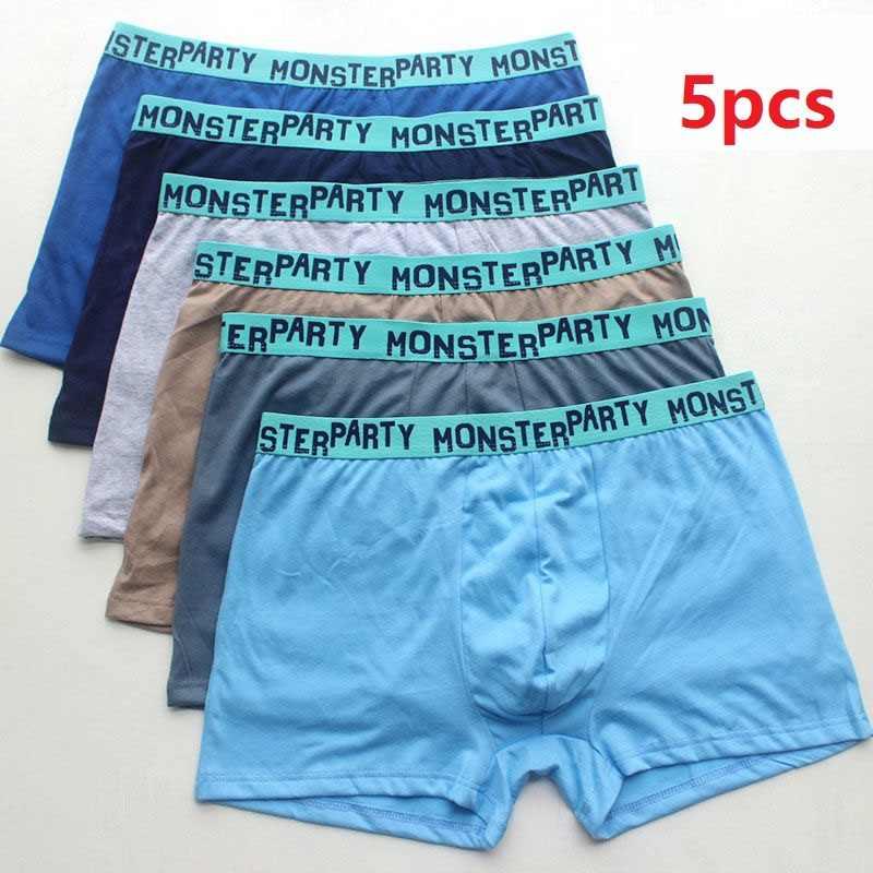 5Pcs Men/'s Cotton Underpants Briefs Shorts Underwear Color Random  L-8XL