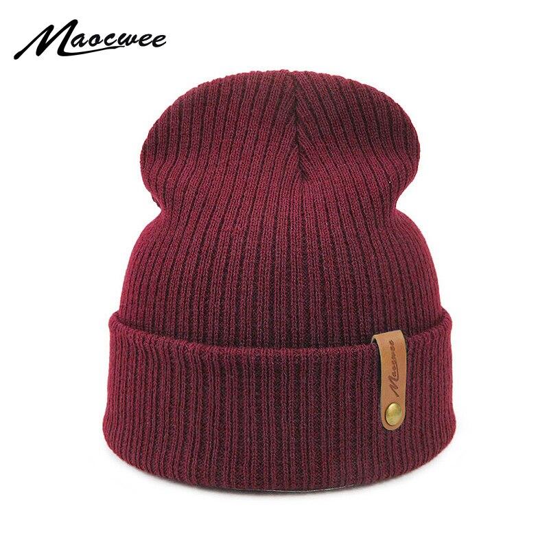 Women Men Hat Beanie Cap Adult Unisex Knitted Beanies Skuilles Hats Autumn Winter Solid Color Gray Black Crochet Skull Face