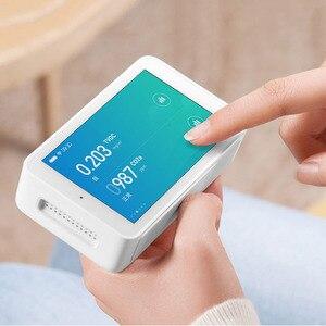 Image 4 - شاومي Mijia كاشف الهواء PM2.5 عالية الدقة 3.97 بوصة واجهة USB لمس الرطوبة الاستشعار رصد الهواء تستر ل Mihome